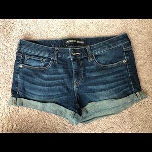 Denim express shorts